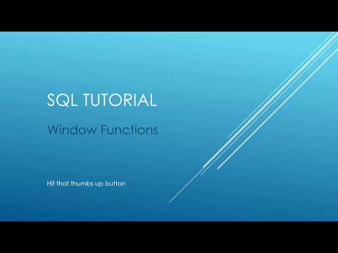 SQL Tutorial - Window Functions