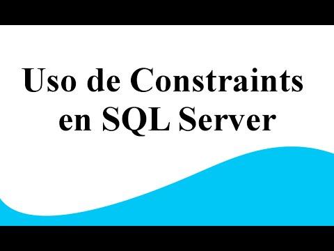 Uso de Constaint en SQL Server