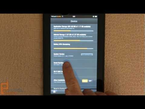 Amazon Kindle Fire 6.2.1 software update demo