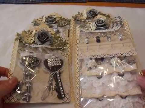 Scrapbook Embellishment Swap-Altered Bottle Caps & Keys, Stick Pins, and Flowers