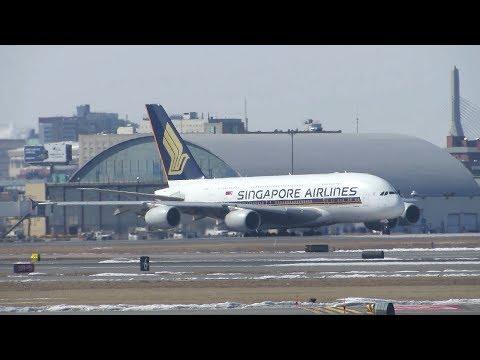 Singapore Airbus A380 Diversion to Boston