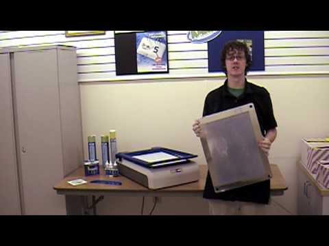 How to clean a YUDU silkscreen stencil