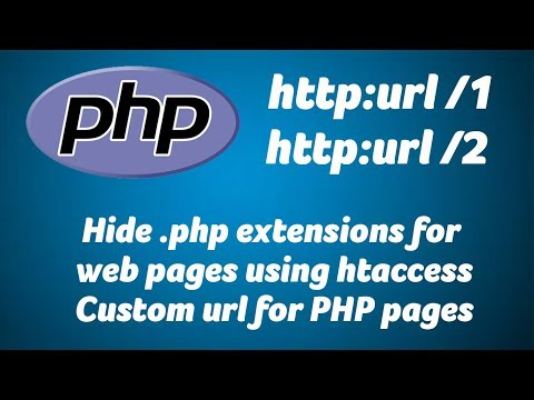 Hide .php extensions, Custom url for PHP pages with parameters, htaccess