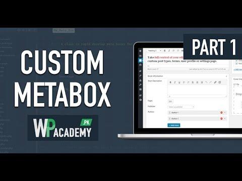 WordPress Custom Meta Box - Urdu-Hindi Tutorial - Part 1