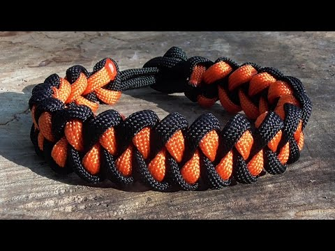 How To Tie A Shark Jaw Bone Paracord Bracelet Without Buckle