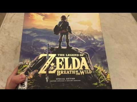 The Legend Of Zelda Breath Of The Wild Special Edition Unboxing