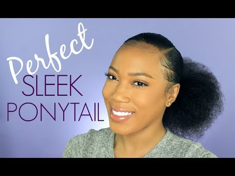 HOW TO: LOW PONYTAIL ON THICK NATURAL HAIR