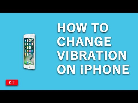 How to change vibration on iPhone
