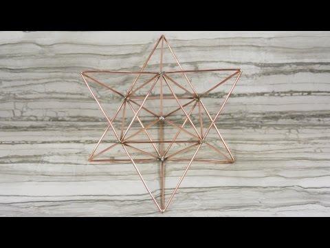 Platonic solid wireframes