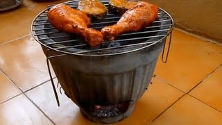 How to build an inexpensive Flower Pot Barbecue BBQ