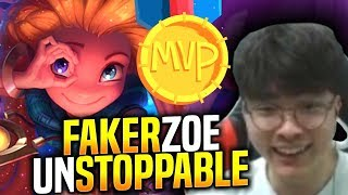 Faker is Unstoppable with Zoe! - When Faker Picks Zoe Mid! | SKT T1 Replays