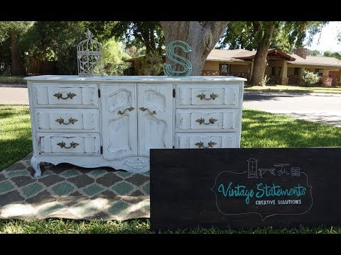 Furniture Make over How to redo a French Dresser 9 drawer