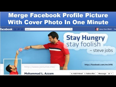 how to combine facebook cover and profile picture In One Minute | Tech World's How To  Videos