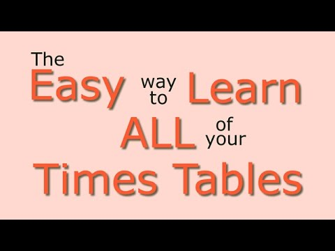 Times Tables: Easy way to learn all the times tables