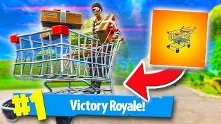 USING ONLY SHOPPING CARTS TO WIN! *CHALLENGE!* | Fortnite Battle Royale