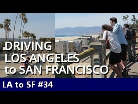 Driving LA to San Francisco on 101. Stops in Santa Barbara and the Google Campus - Episode 34