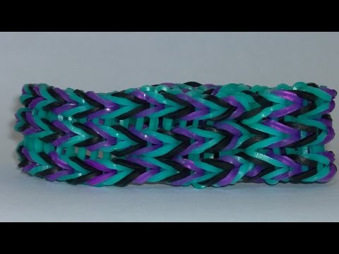 Rainbow Loom Triple Fishtail Bracelet without rainbow loom! Easy to make it! DIY!