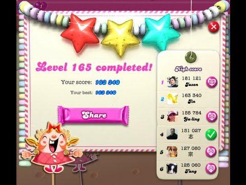 Candy Crush Saga Level 165 ★★★ NO BOOSTER