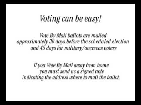 Vote by Mail Video