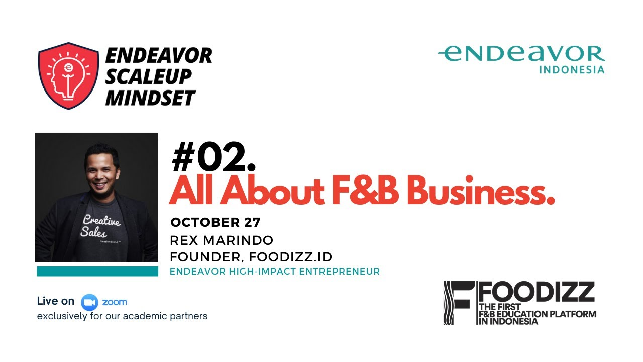 #02 All About F&B Business with Rex Marindo of Foodizz.id