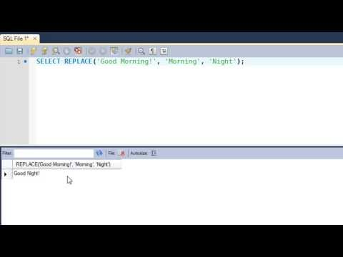 SQL Tutorial - 43: REPEAT() & REPLACE() Functions
