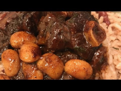 EASIEST WAY TO MAKE JAMAICAN-STYLE OXTAILS WITH BUTTER BEANS | COOKING WITH JANIEL