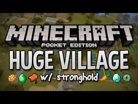 TRIPLE VILLAGE SEED W/ STRONGHOLD & DUNGEONS! - Minecraft PE Seed (Pocket Edition)