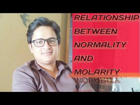 Relationship between normality and molarity