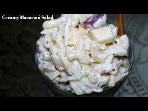 Creamy Macaroni Fruit Salad Very Quick And Easy -  Macaroni Salad | Fatima's Kitchen