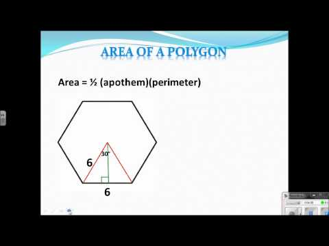 Geometry Lesson 10.3 Area of a Polygon