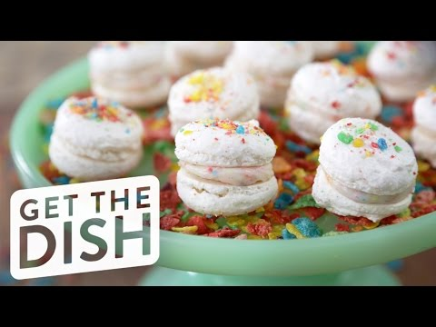 How to Make Fruity Pebbles Macarons | Get the Dish