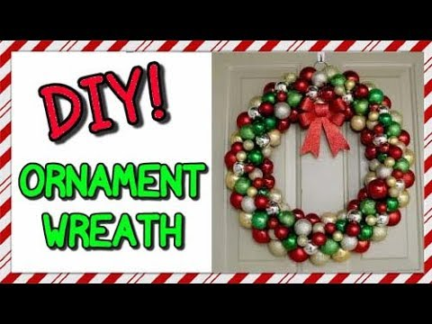How To Make An Ornament Wreath | EASY CHRISTMAS DIY!