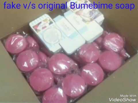 Bumebime Soap (fake v/s original)