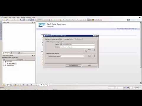 Setting Up An Email Job In SAP Data Services