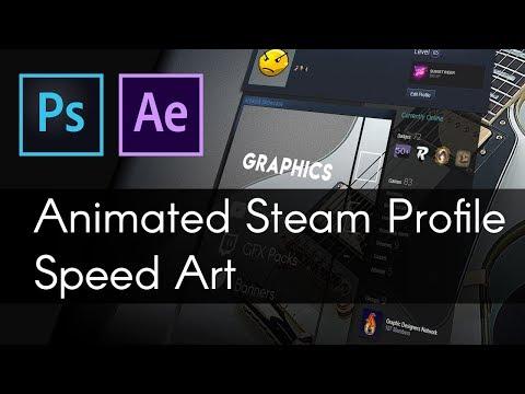 Animated Steam Profile Speed Art