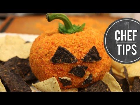 Easy Halloween Appetizer - Pumpkin Cheese Ball