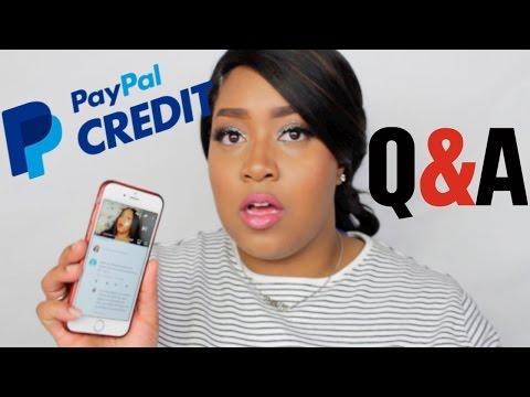 PayPal Credit FAQ's | DominiqueBlahzay