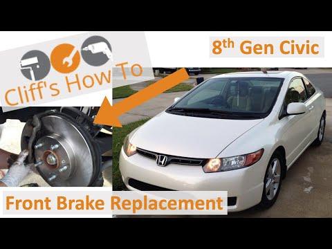 Civic Brake Pad and Rotor DIY (Front) 8th Gen. 2006 EX