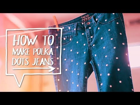 DIY POLKA DOTS JEANS | How to Make Polka Dotted Pants Tutorial ✨ Alejandra's Styles