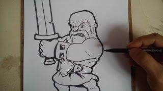 Cómo Dibujar Bárbaro Enfurecido De Clash Of Clans Magicbocetos