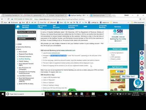 Aadhaar card SBI Bank Account Linking online   in Tamil