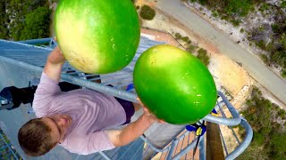 CATCHING WATERMELONS from 150 FEET!