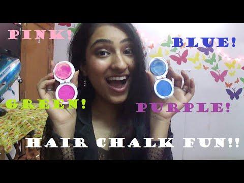 let's try HAIR CHALK!!(temporary hair colour)