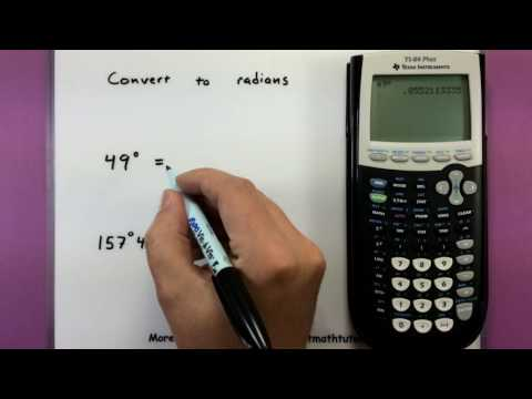 Trigonometry - How to convert between radians and degrees using a calculator