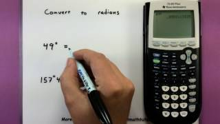 Trigonometry How To Convert Between Radians And Degrees Using A Calcu