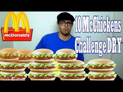 10 McDonalds McChicken Sandwiches Dry w/ DudeWheresMyChallenge | FreakEating vs The World 55