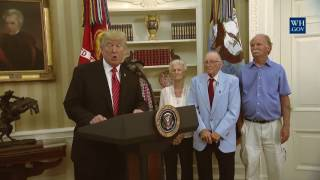 President Trump Visits with Survivors from the USS Arizona - 7/21/17