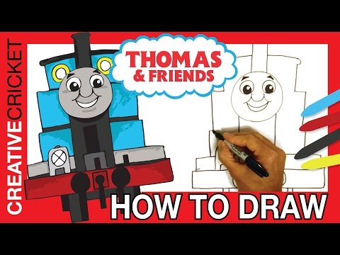How to Draw Thomas the Tank Engine ♦ Coloring with Thomas & Friends ♦ Toy Trains for Kids