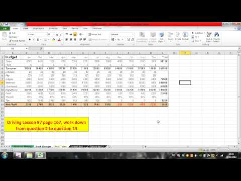 Microsoft Excel Track changes