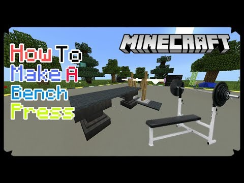 How To Make A Bench Press In MCPE 1.2 ! Minecraft PE 1.2